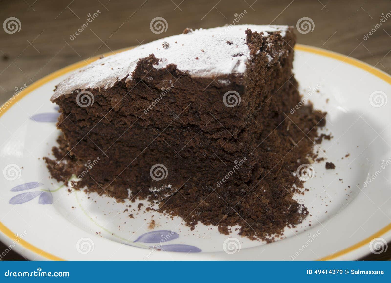 Download Selbst Gemachter Schokoladenkuchen Stockbild - Bild von soße, selbstgemacht: 49414379