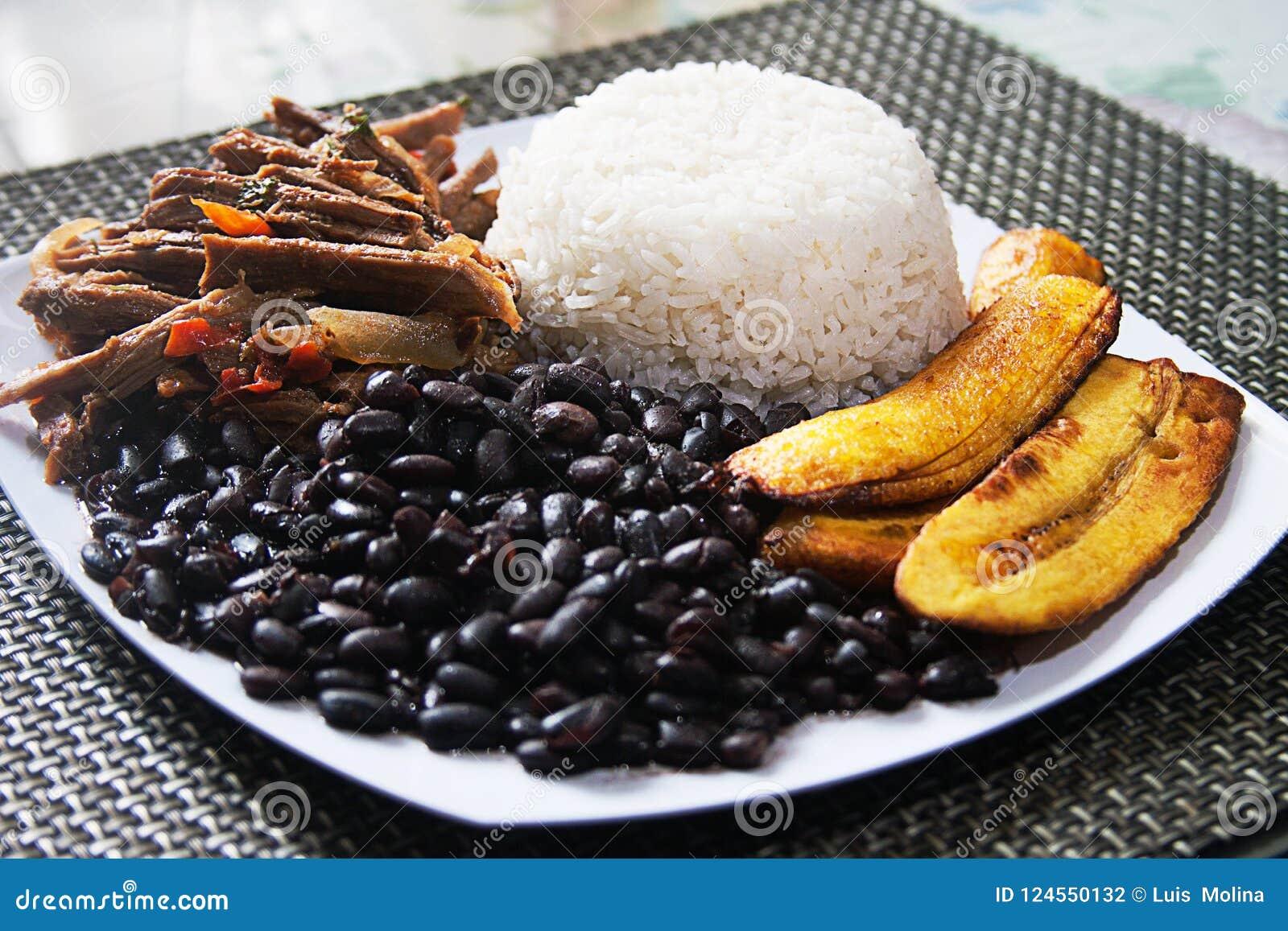 Selbst gemachtes venezolanisches Lebensmittel Traditioneller venezolanischer Teller