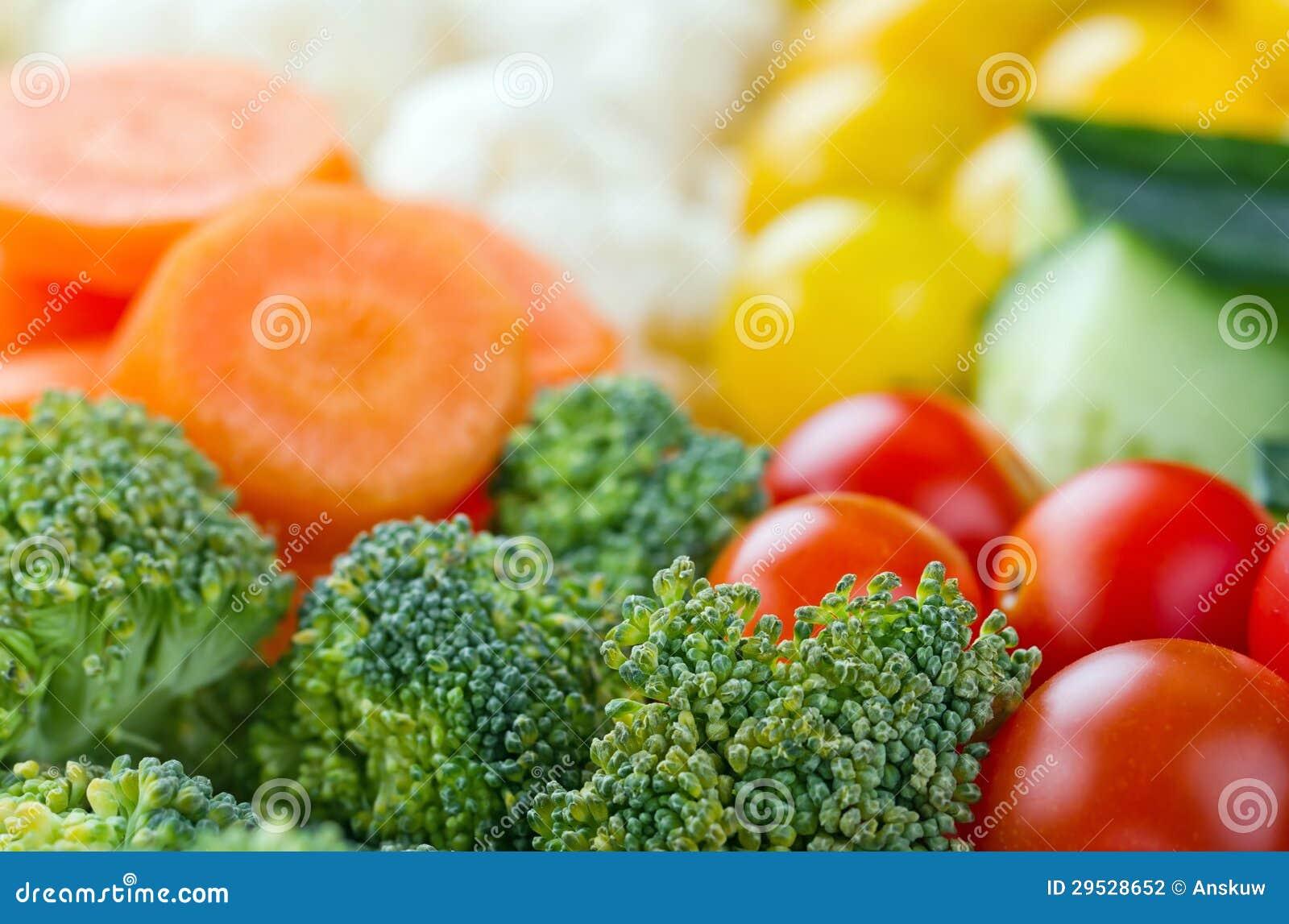 Seleção de vegetais saudáveis coloridos