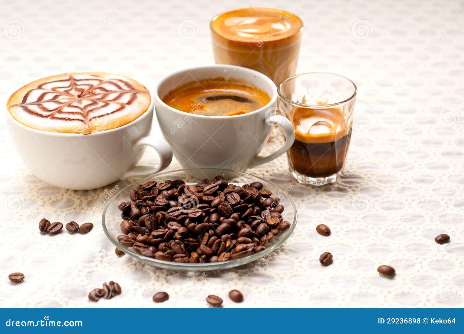 Download Seleção Do Tipo Diferente Do Café Foto de Stock - Imagem de café, colheita: 29236898