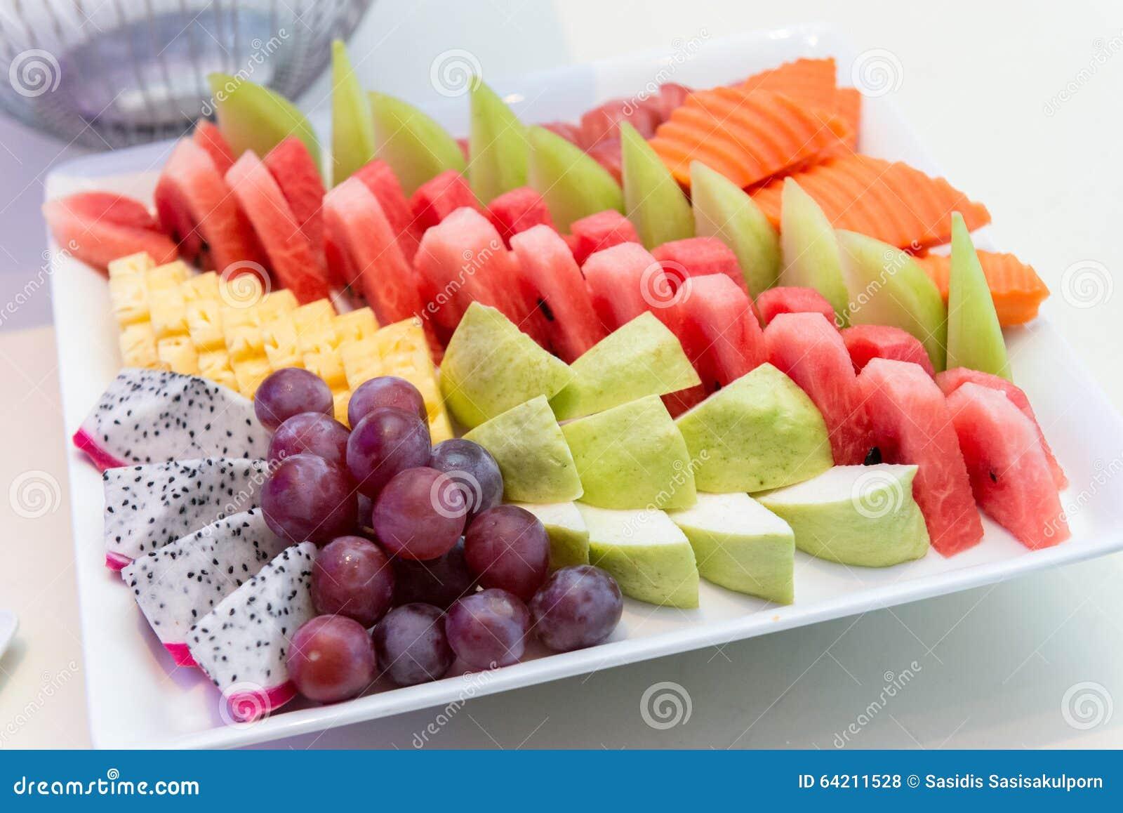 Selección de las frutas tropicales