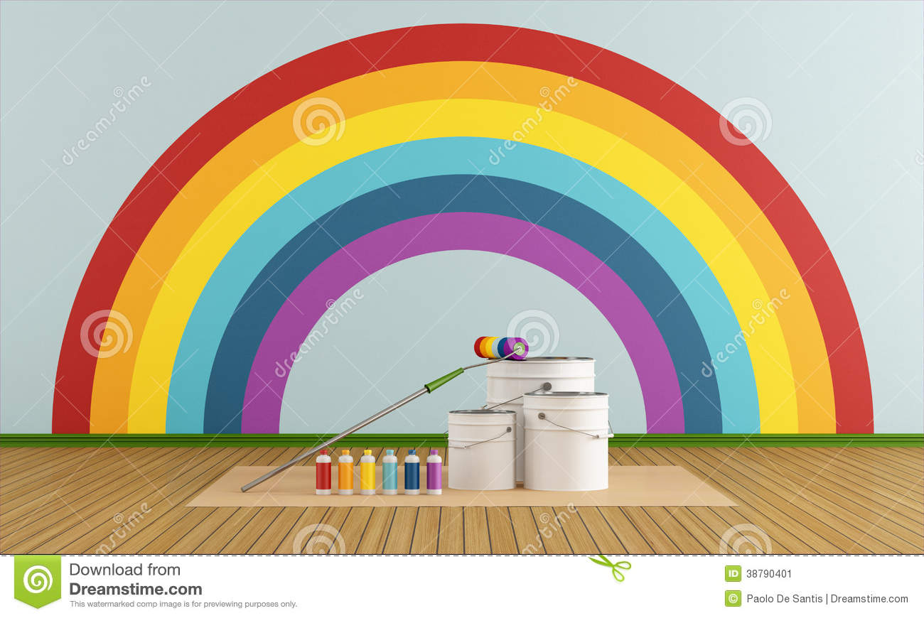 select color swatch to paint wall with rainbow col stock