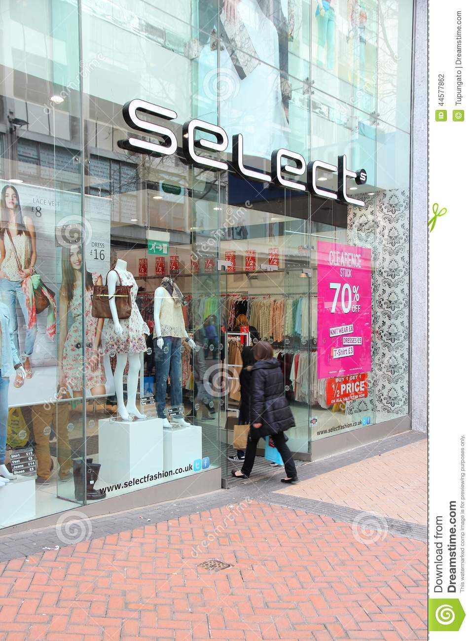 Select has 154 women's clothes stores in the United Kingdom (2014
