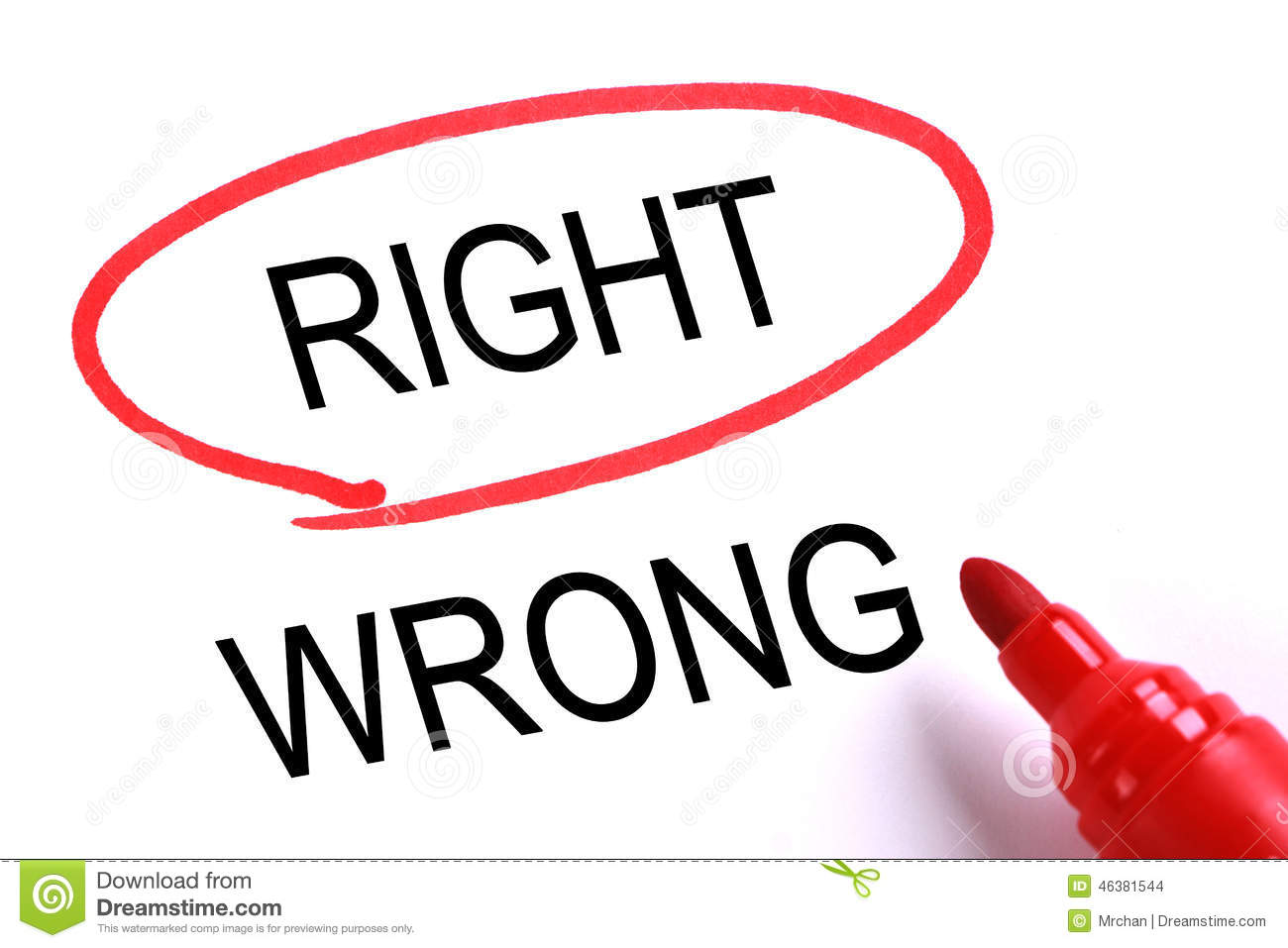who is wrong or right We've all been in the circumstance where we're having a conversation (or argument) with someone and they're convinced you're wrong about something, even though you know you're right whether it's .