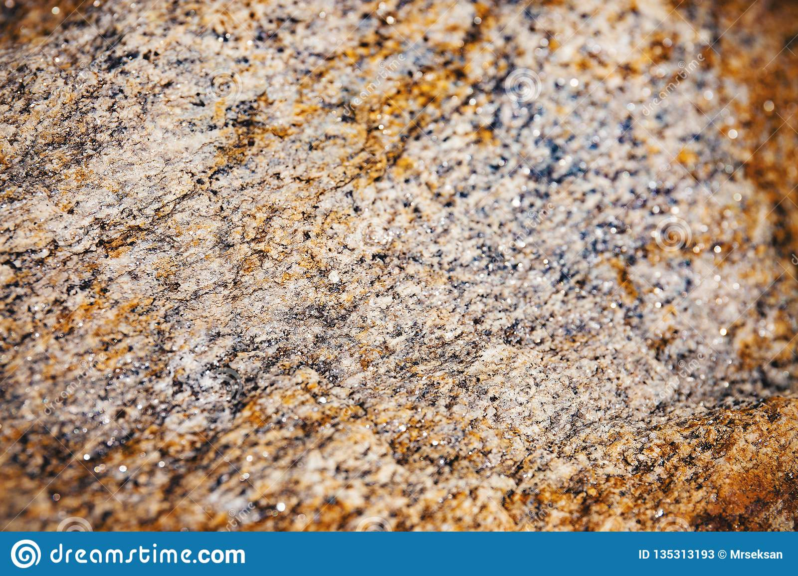 Selected focus of rusty and dusty of rough stone surface texture