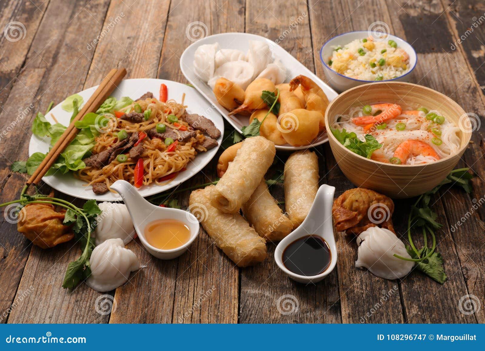 Selectie van het voedsel van Azië