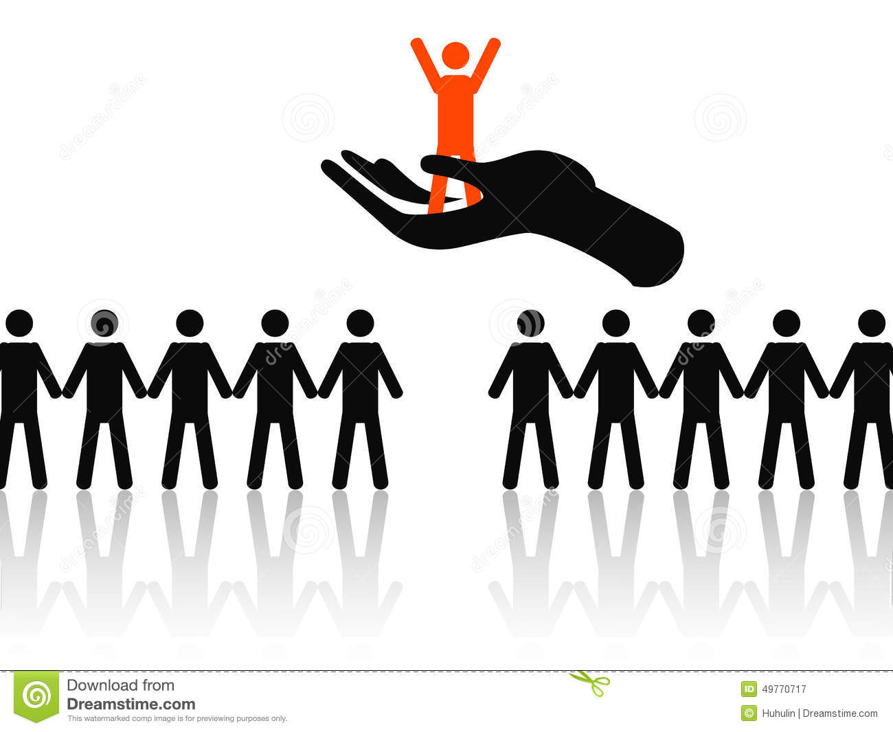 selecting the best job candidate stock vector image 49770717 selecting the best job candidate