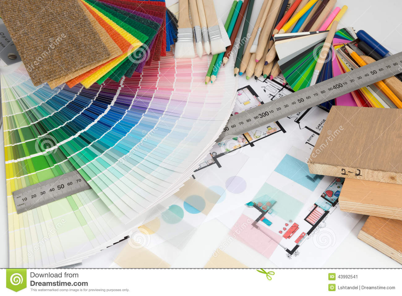 Selection Of Colors And Materials For Home Renovation Stock Photo Image 43992541