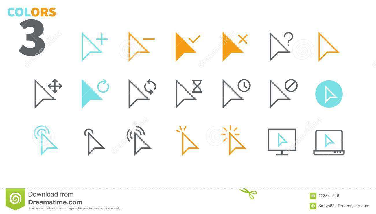 Selection & Cursors UI Pixel Perfect Well-crafted Vector