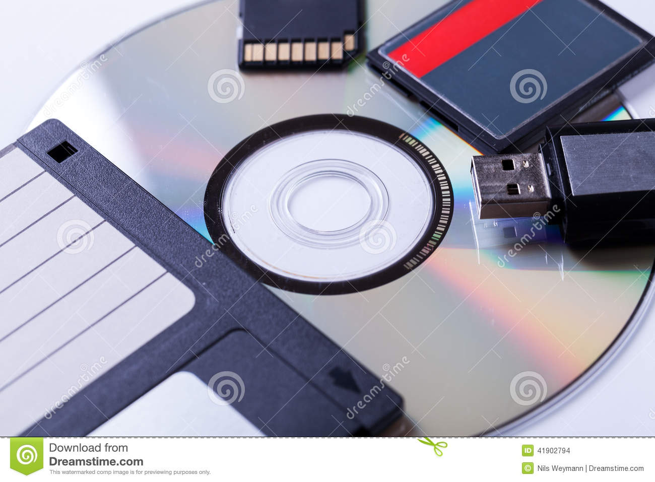 Http Www Dreamstime Com Stock Photo Selection Different Computer Storage Devices Data Information Including Cd Dvd Floppy Disc Usb Key Compact Flash Card Image41902794