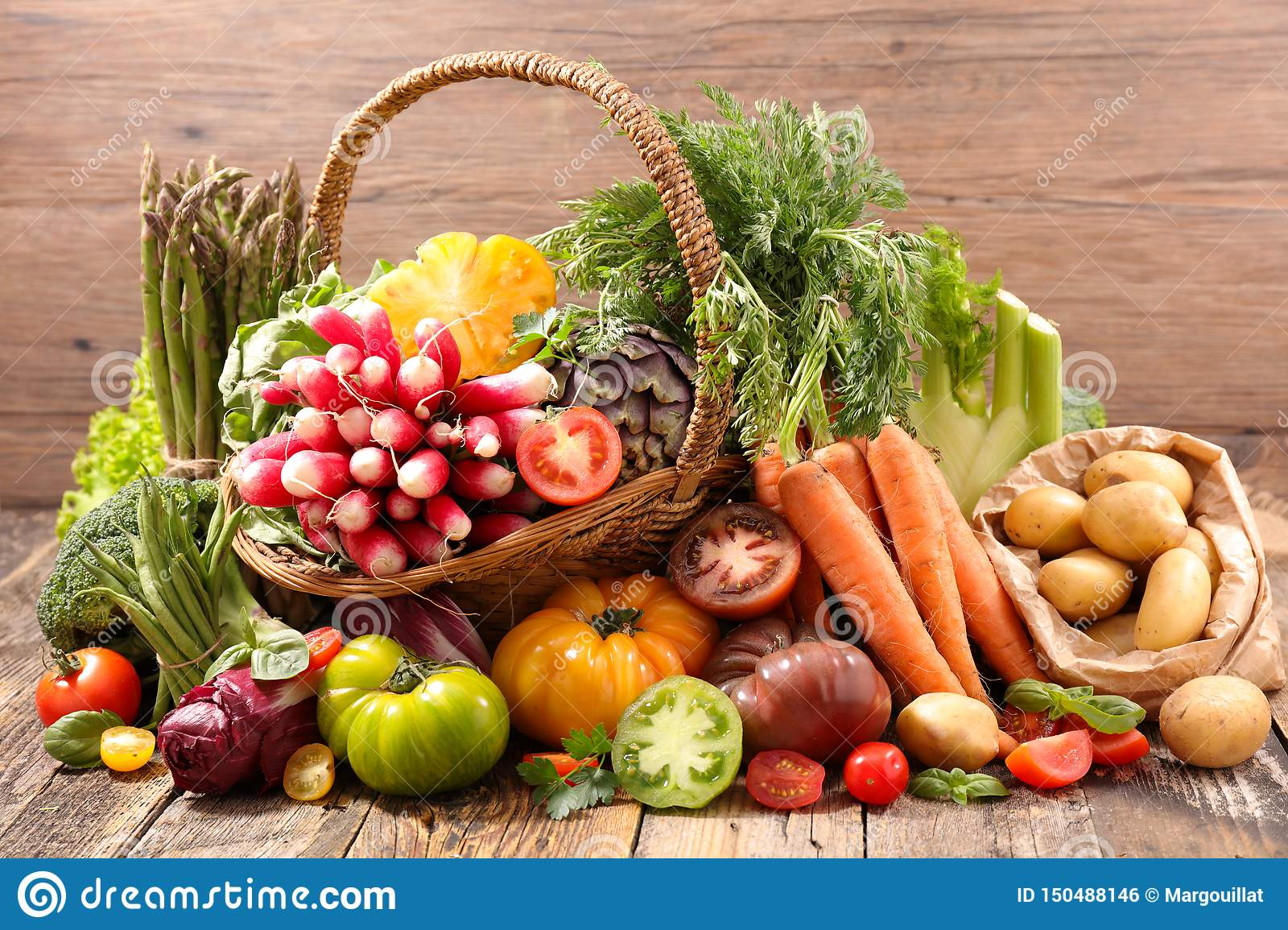Selection Of Fruit And Vegetable Stock Photo - Image of ...