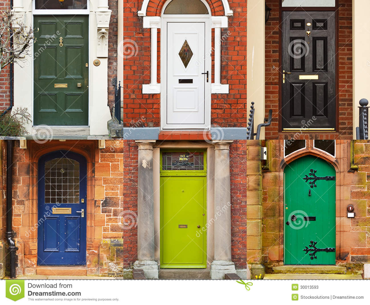 House front doors stock photos image 30013593 for Modern house estate agents