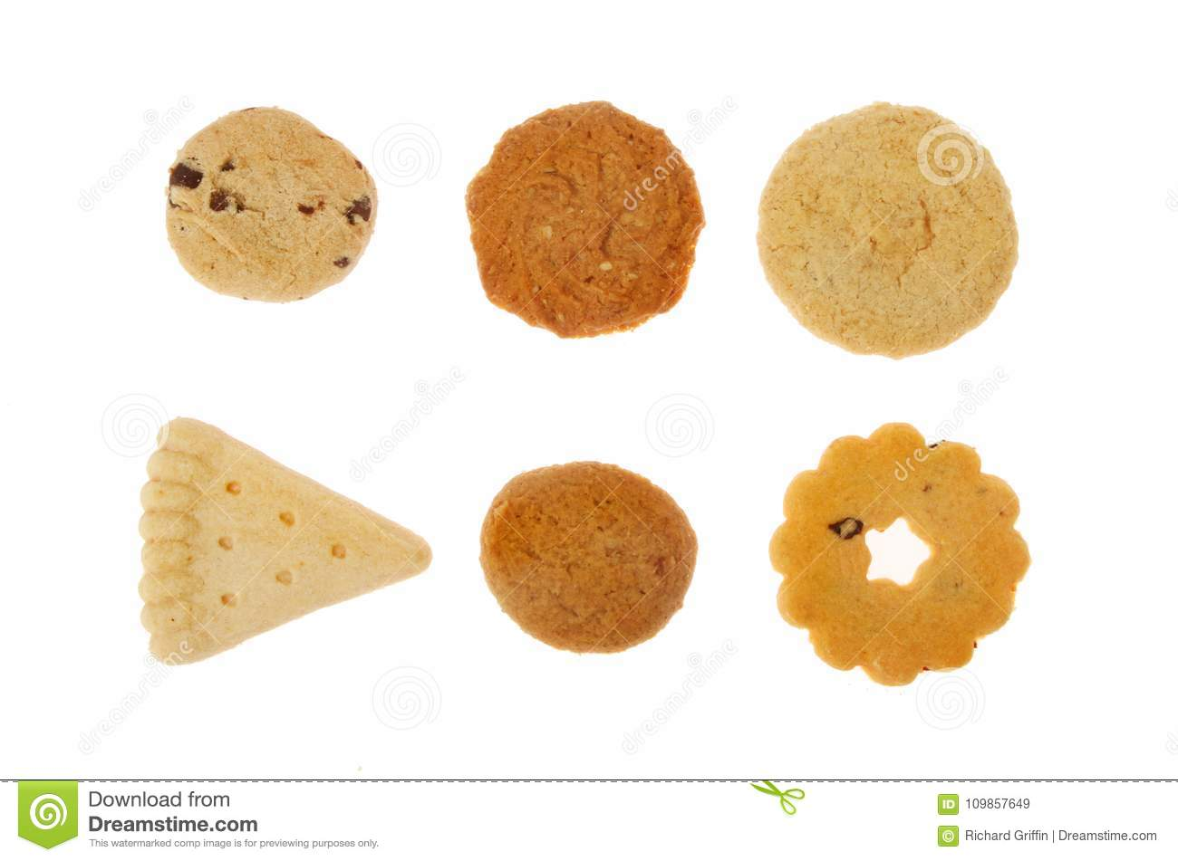 Shortbread biscuit selection