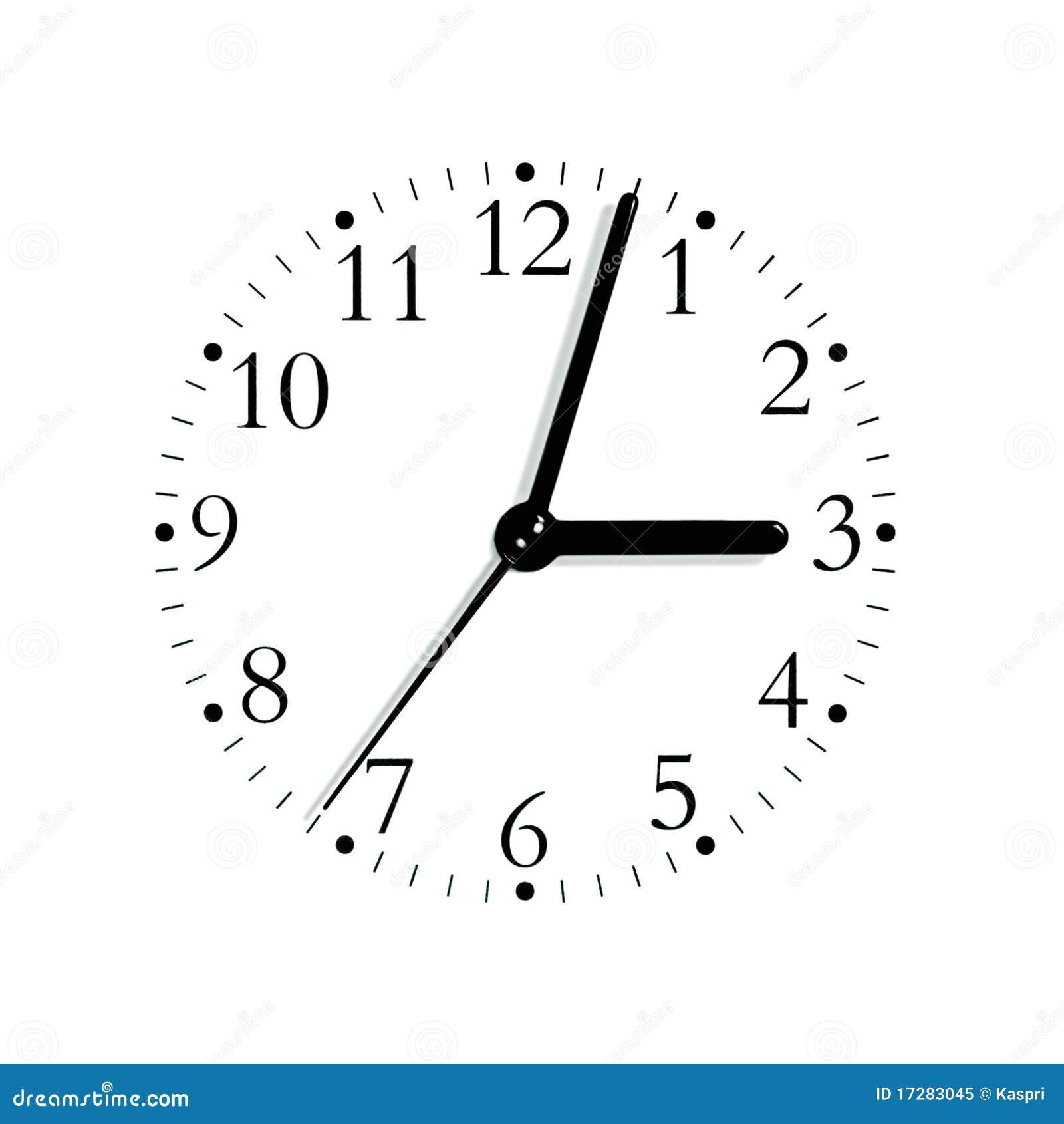 Seletor análogo branco preto da face do relógio, isolado