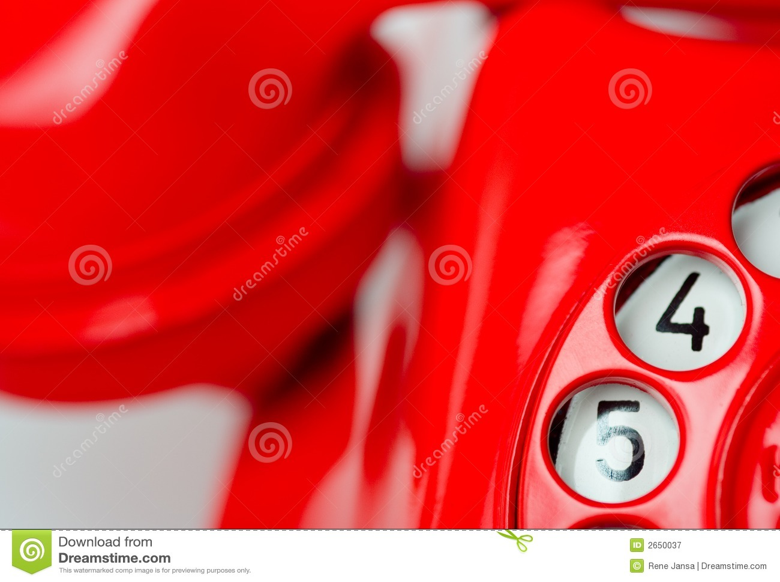 Seletor giratório do telefone vermelho