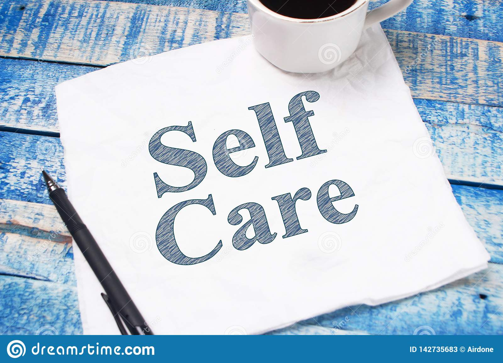 Self Care Motivational Words Quotes Concept Stock Image Image Of