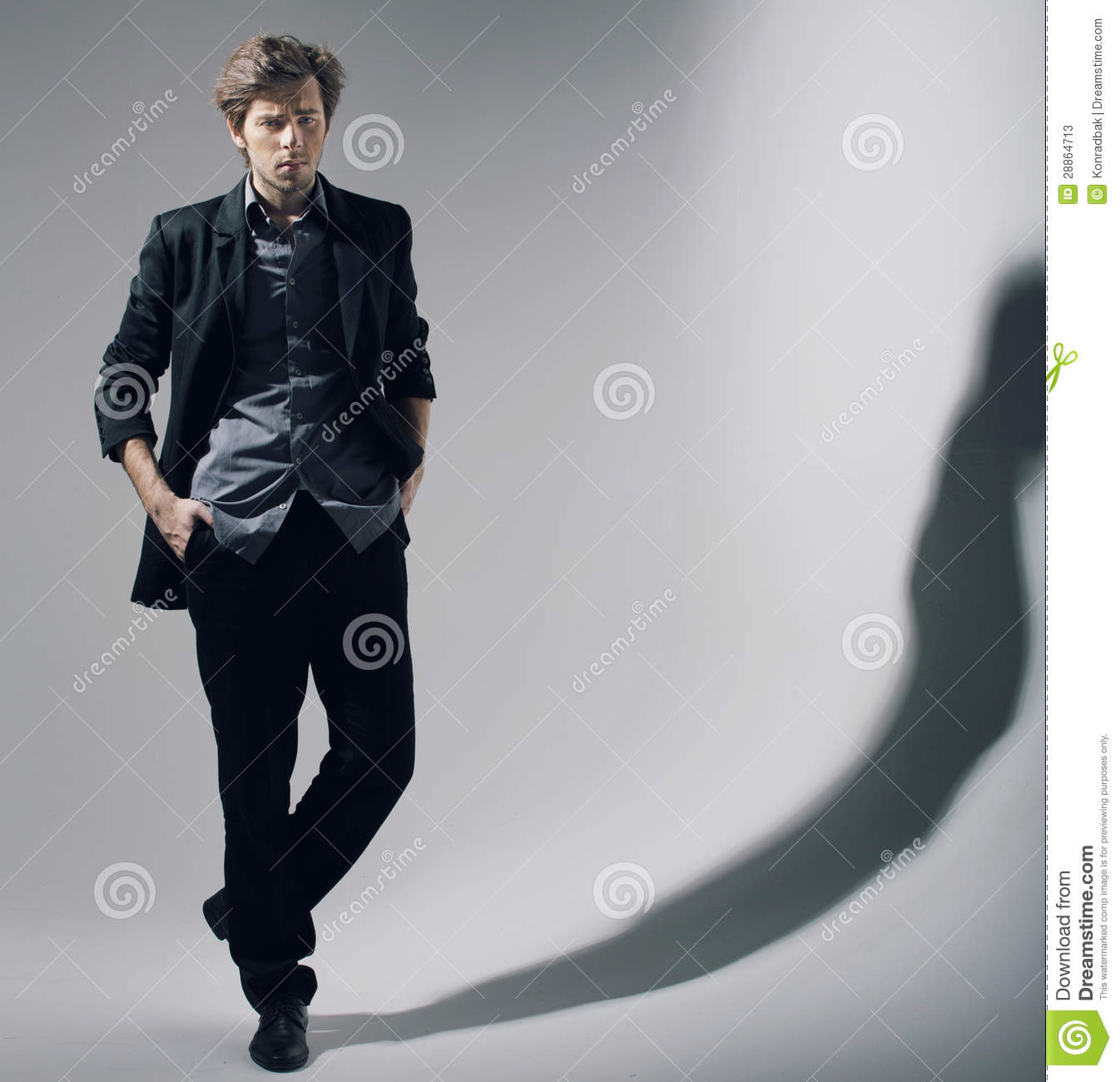 Self Confident Bussiensman In Natural Pose Stock Image