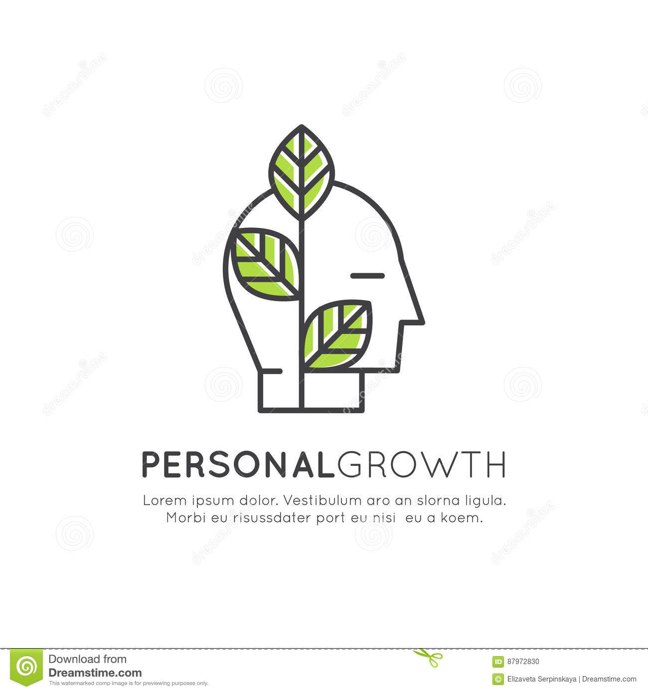 Self Development Education Personal Growth Concept Stock