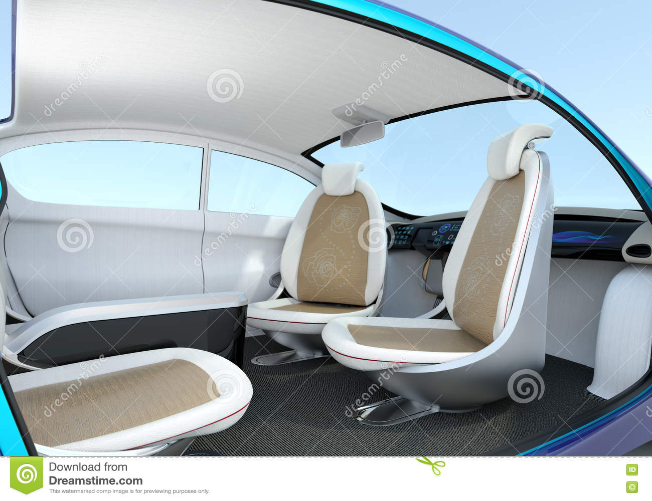 self driving car interior concept stock illustration illustration of business computer 70989840. Black Bedroom Furniture Sets. Home Design Ideas