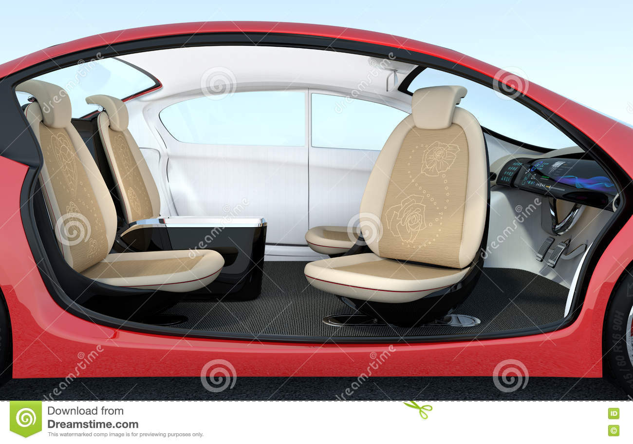 self driving car interior concept stock illustration illustration of navigating autopilot. Black Bedroom Furniture Sets. Home Design Ideas