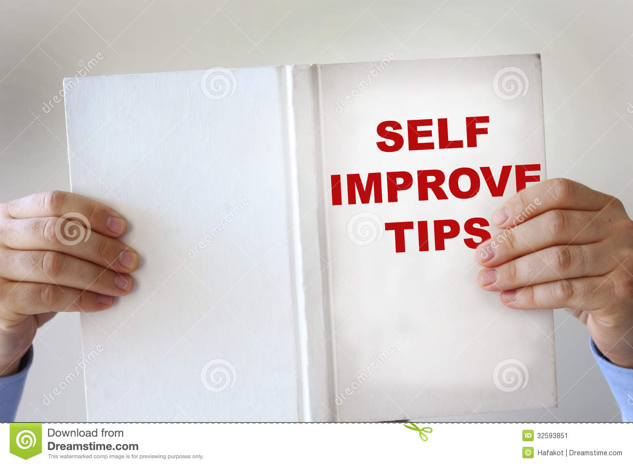 self improvement fake book stock image image of hands 32593851