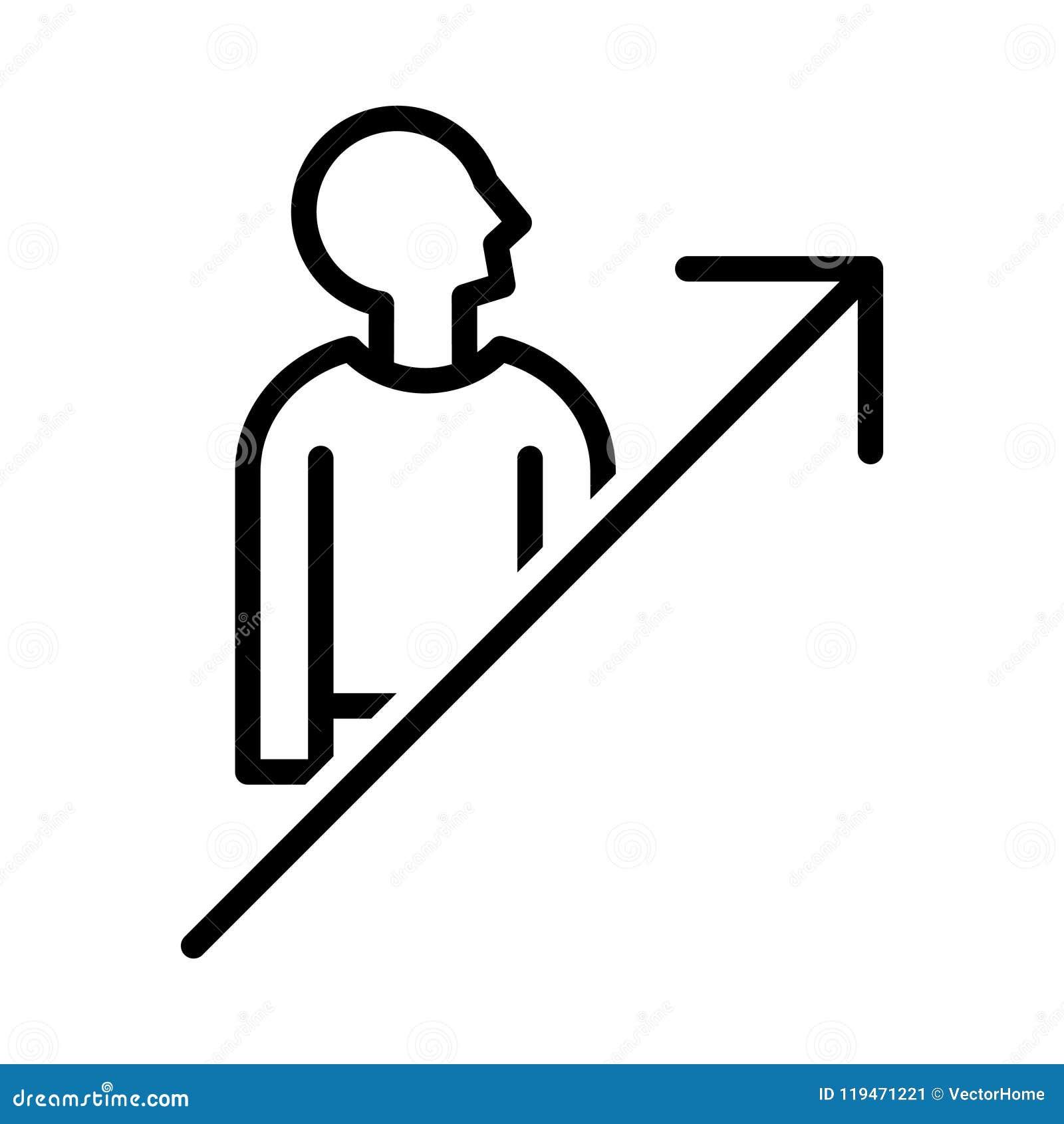 self improvement icon stock vector illustration of chart 119471221