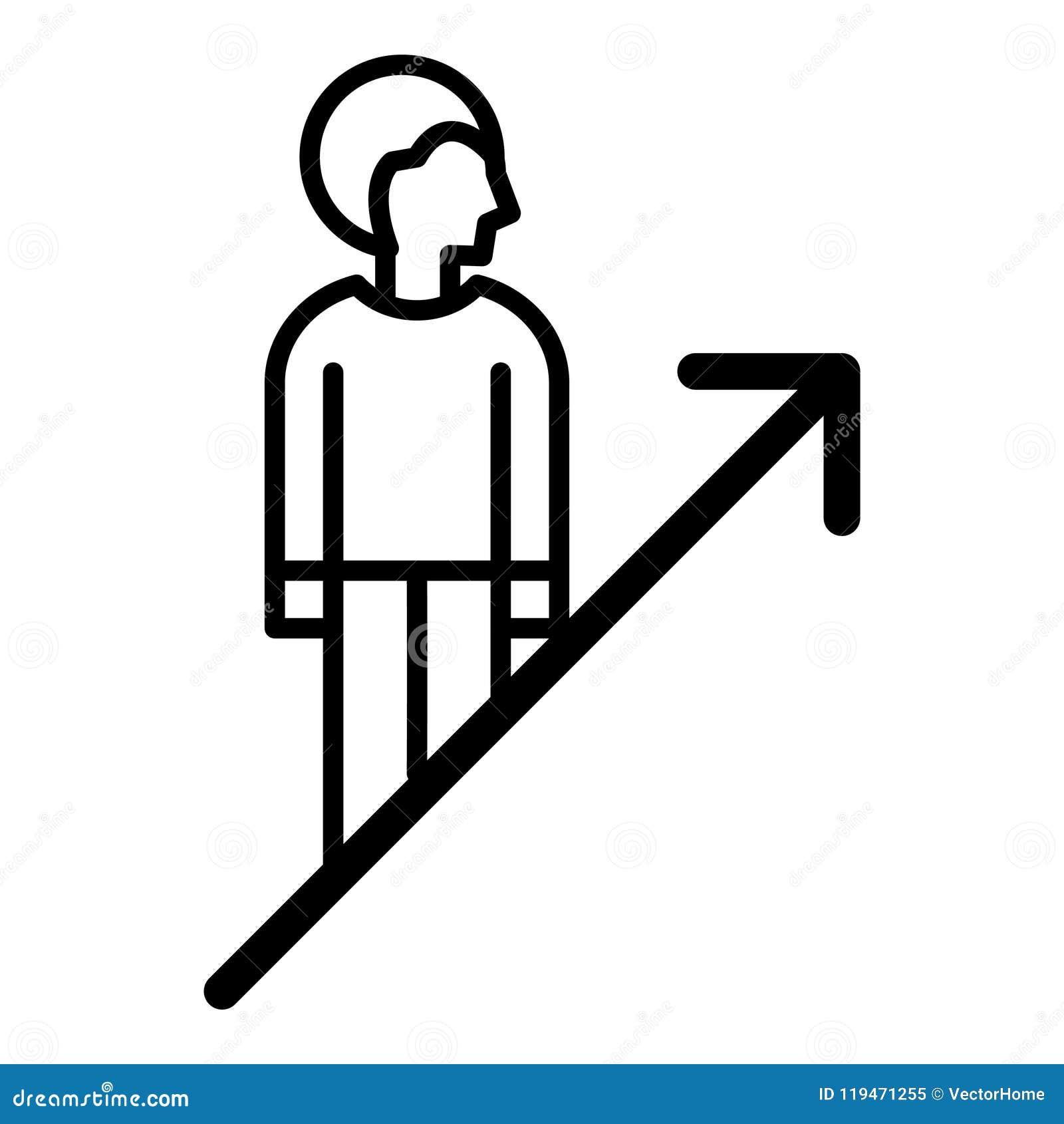 self improvement icon stock vector illustration of potential
