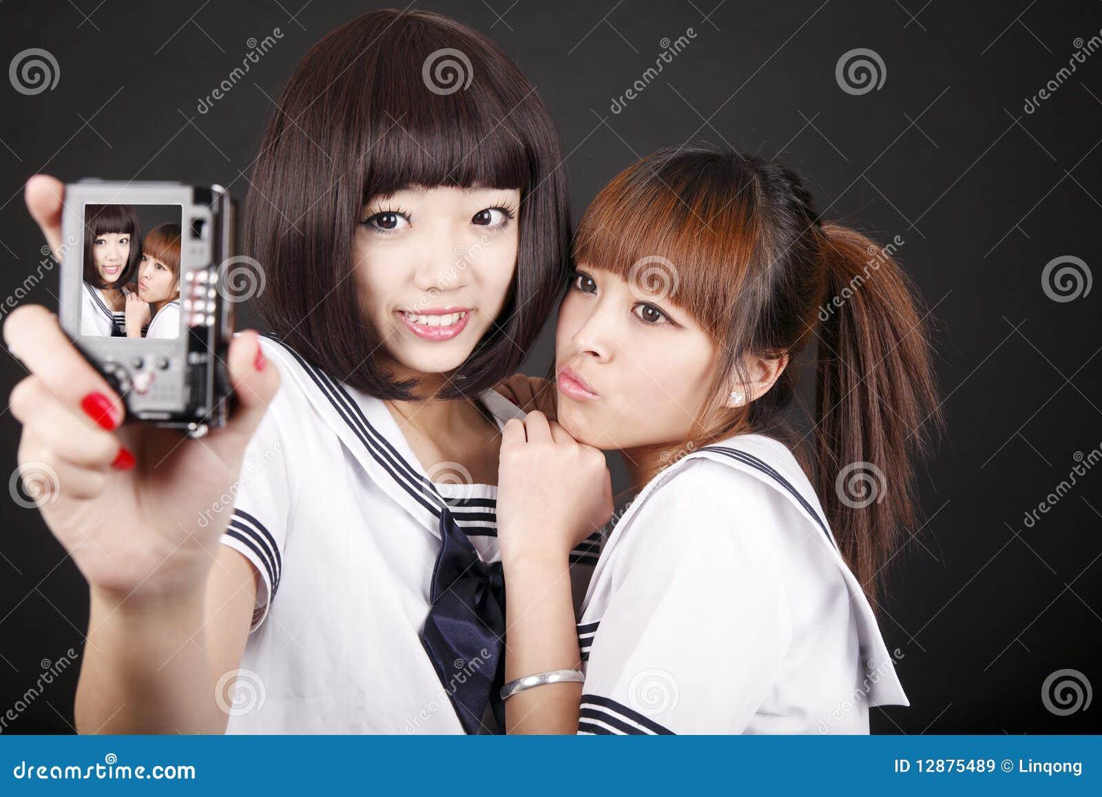 Self-portrait dos estudantes fêmeas