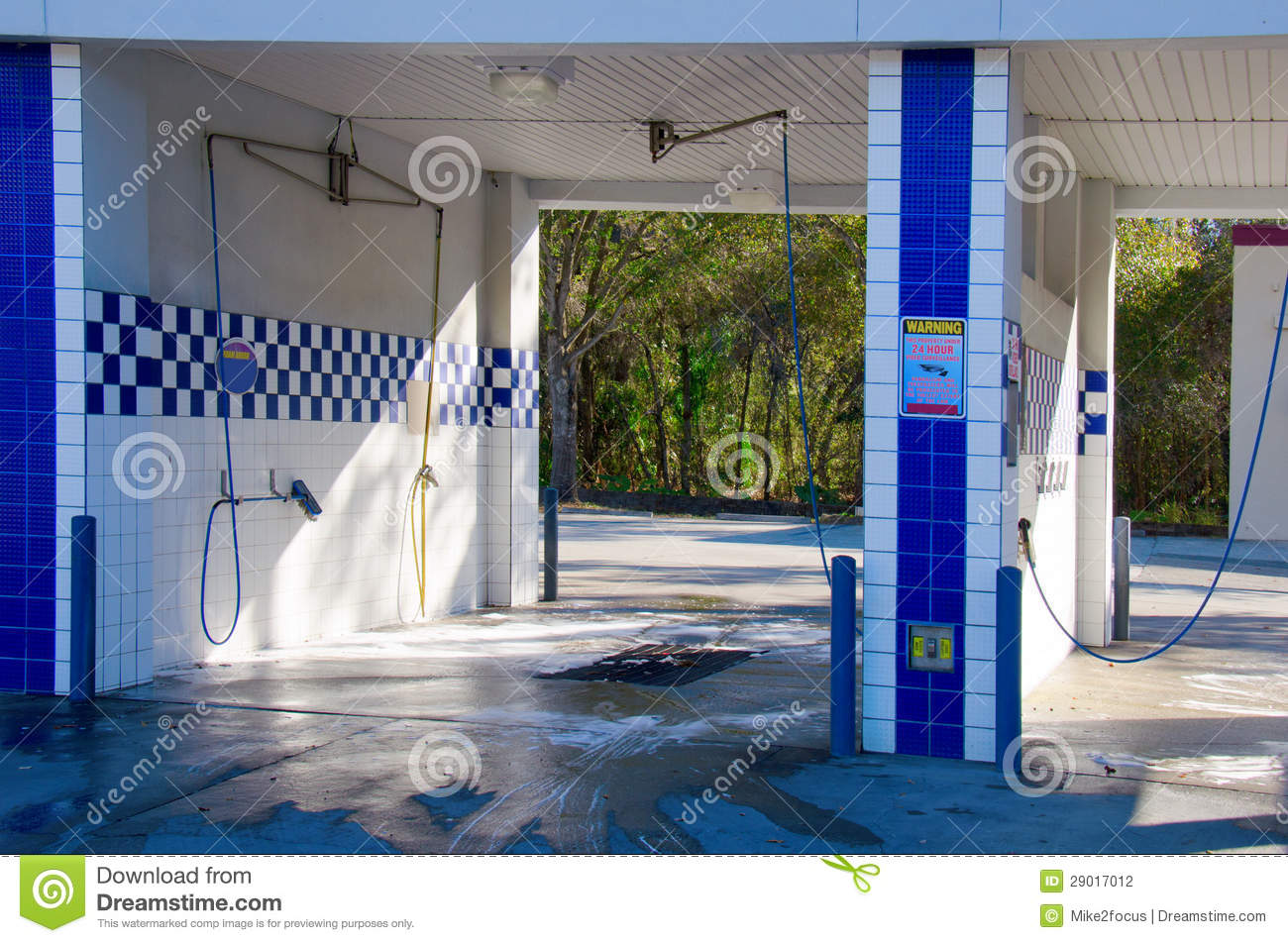 Self Serve Car Wash Stock Photography