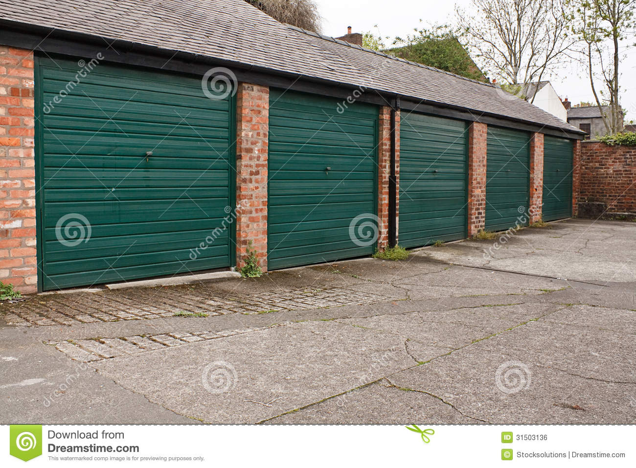 Self storage garages stock photo image of concrete for Self auto niortais garage automobiles niort
