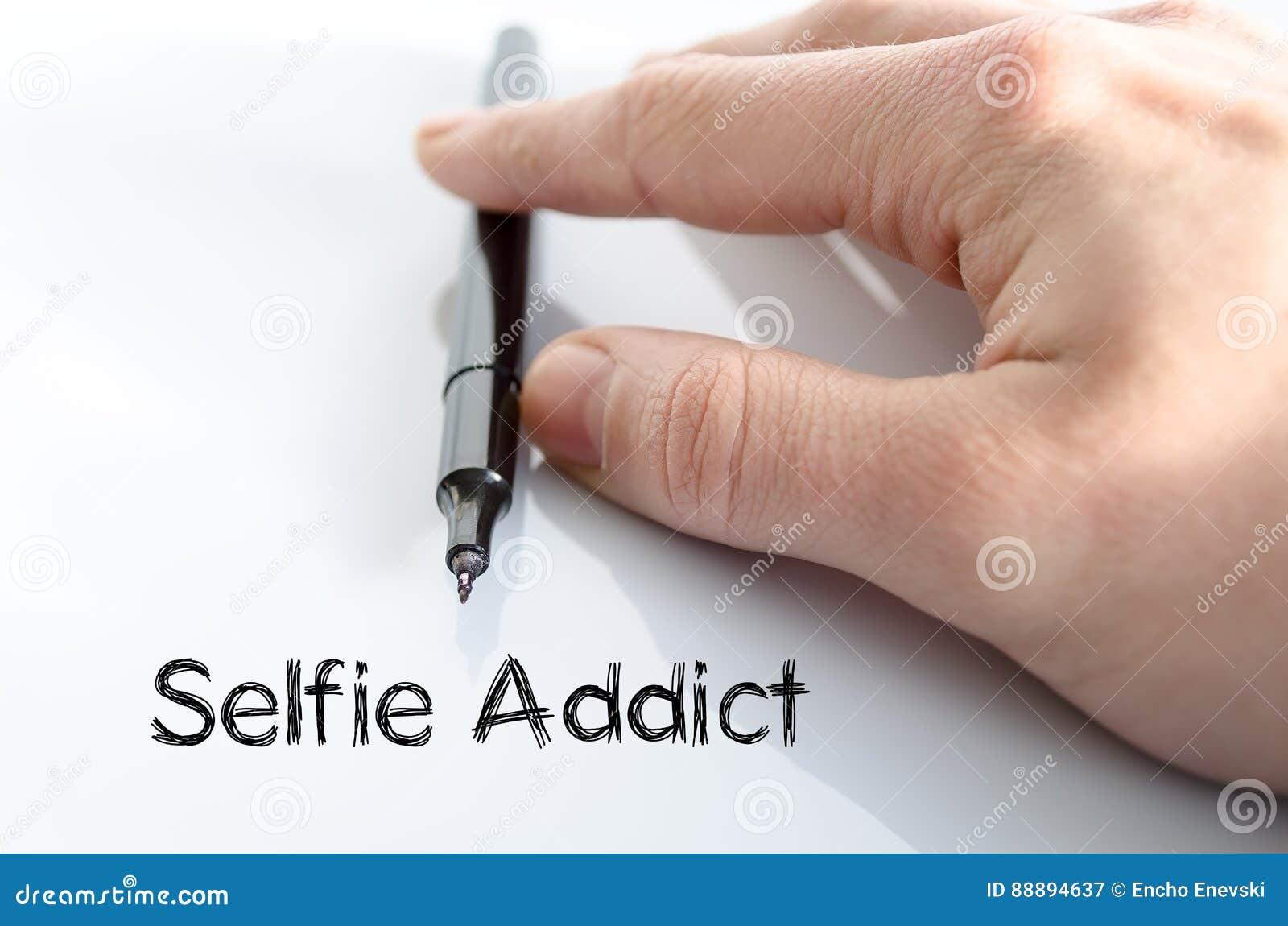 Selfie上瘾者文本概念