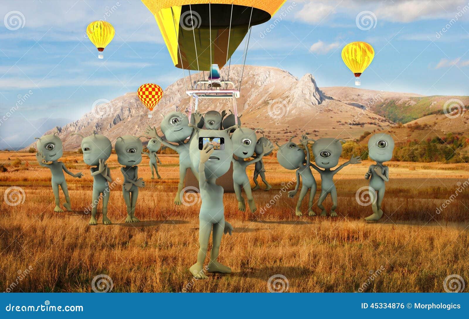 alien group Selfie