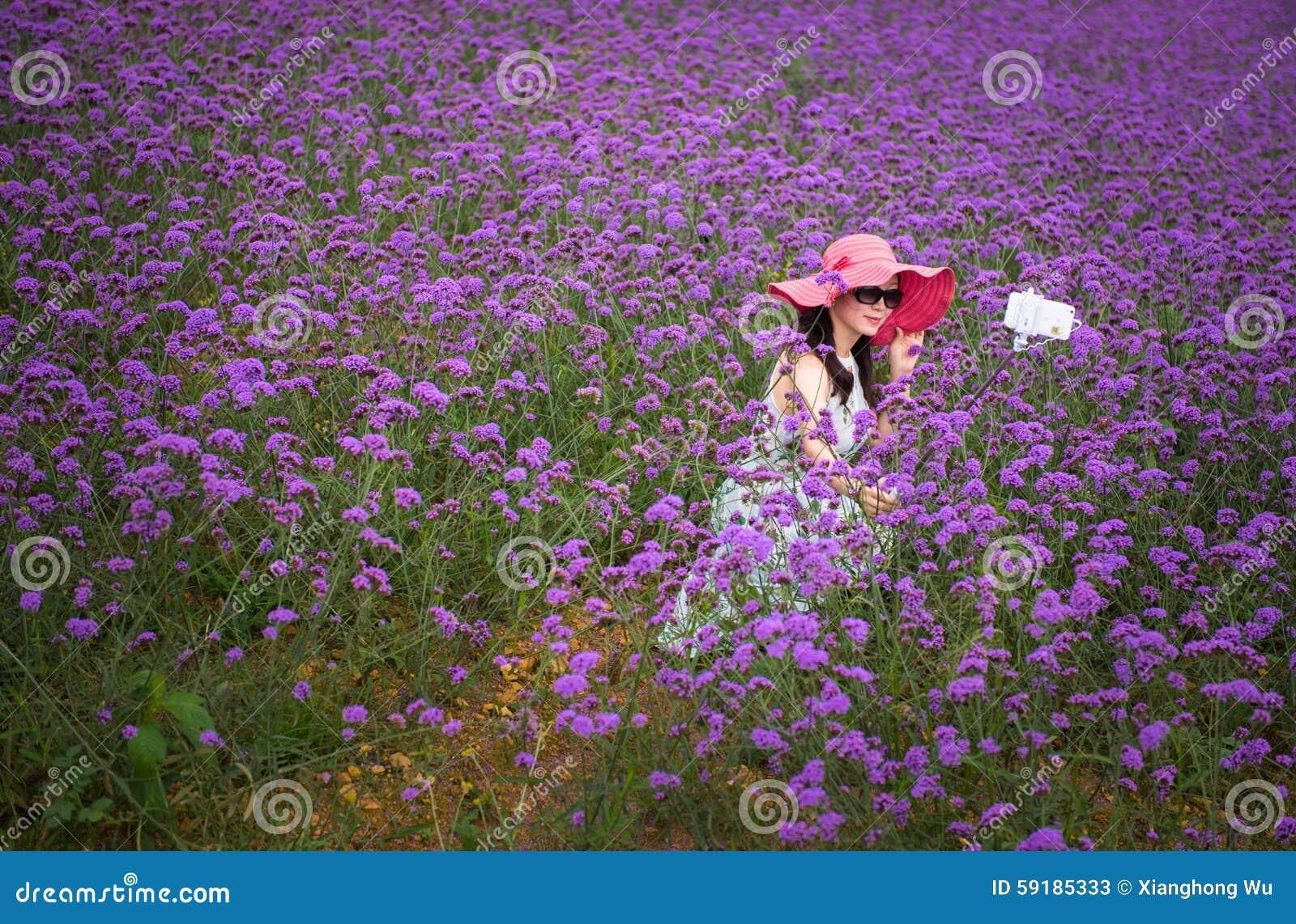 Selfie auf dem Lavendelgebiet