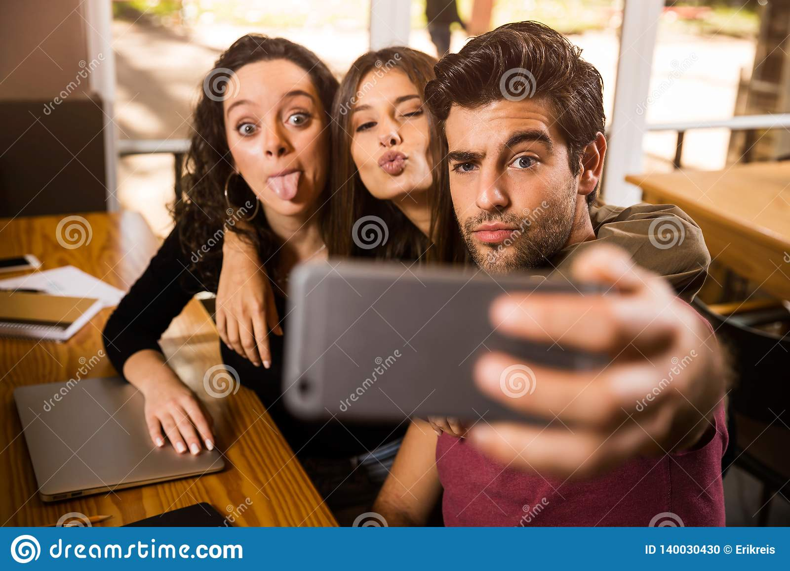 Selfie de los estudiantes