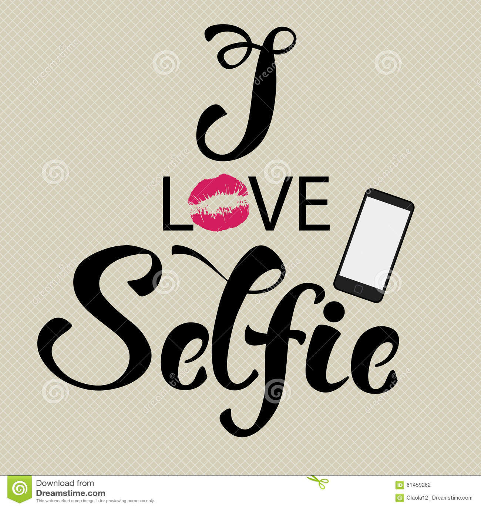selfie decorative lettering