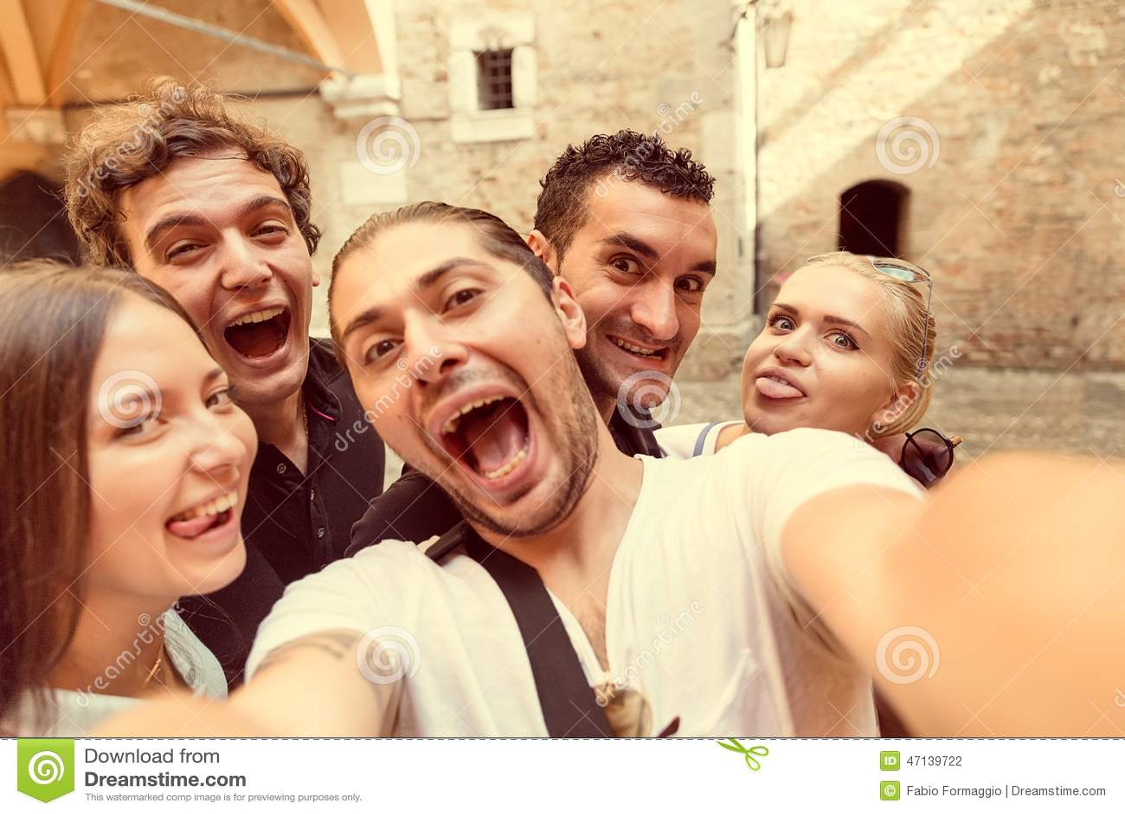 Selfie with friends in Milan