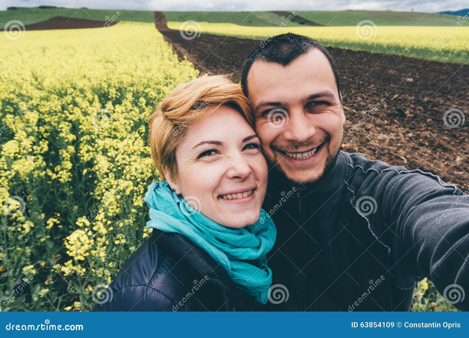 Selfie i canolafält