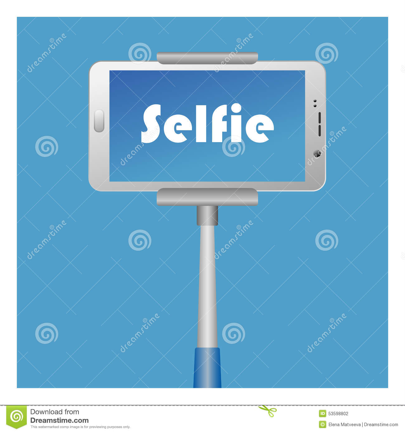 Selfie Icon with smart phone end monopod for web design, logotyps ...