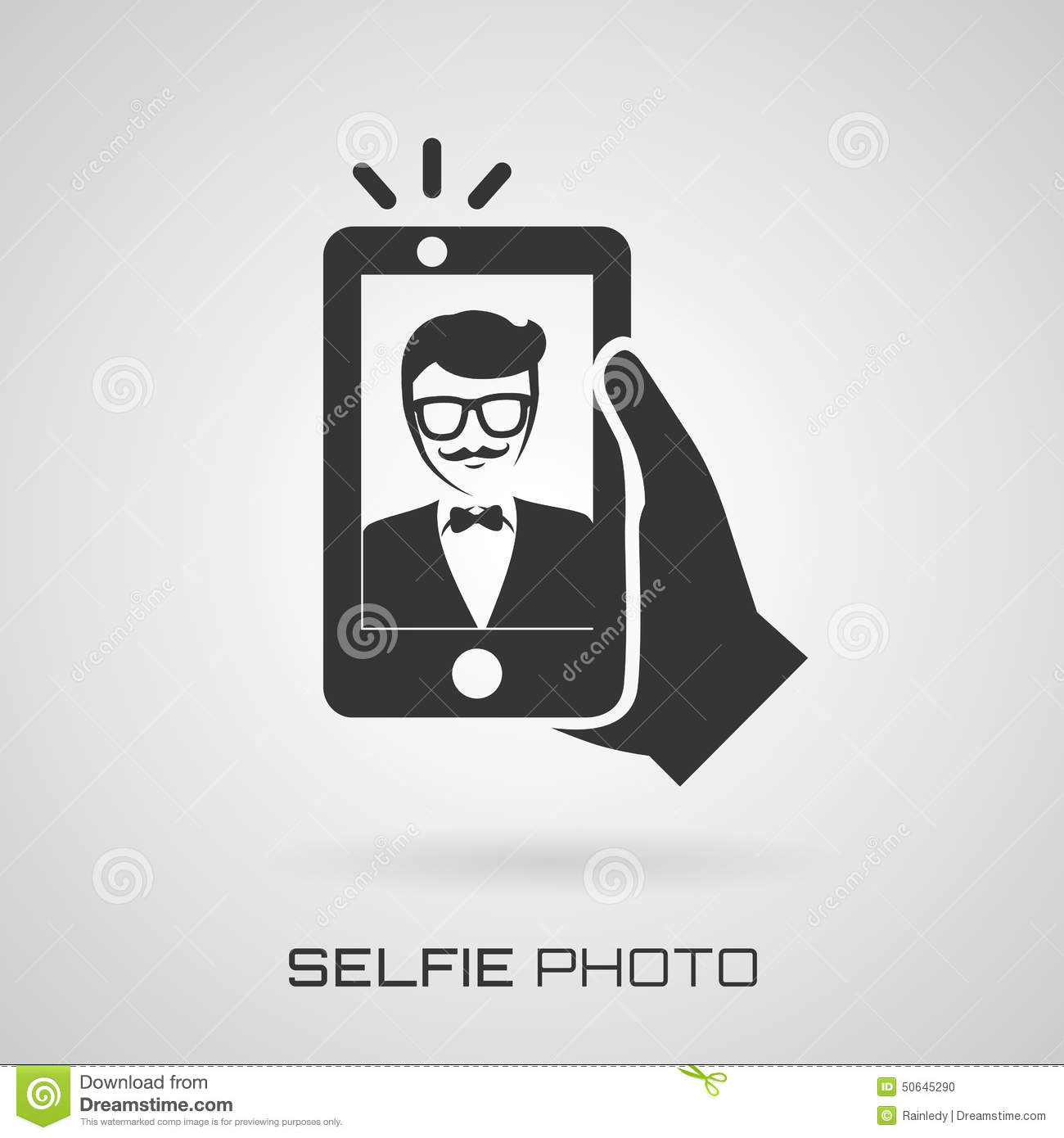 Selfie Icon With Trendy Man. Vector Symbol. Stock Vector - Image ...