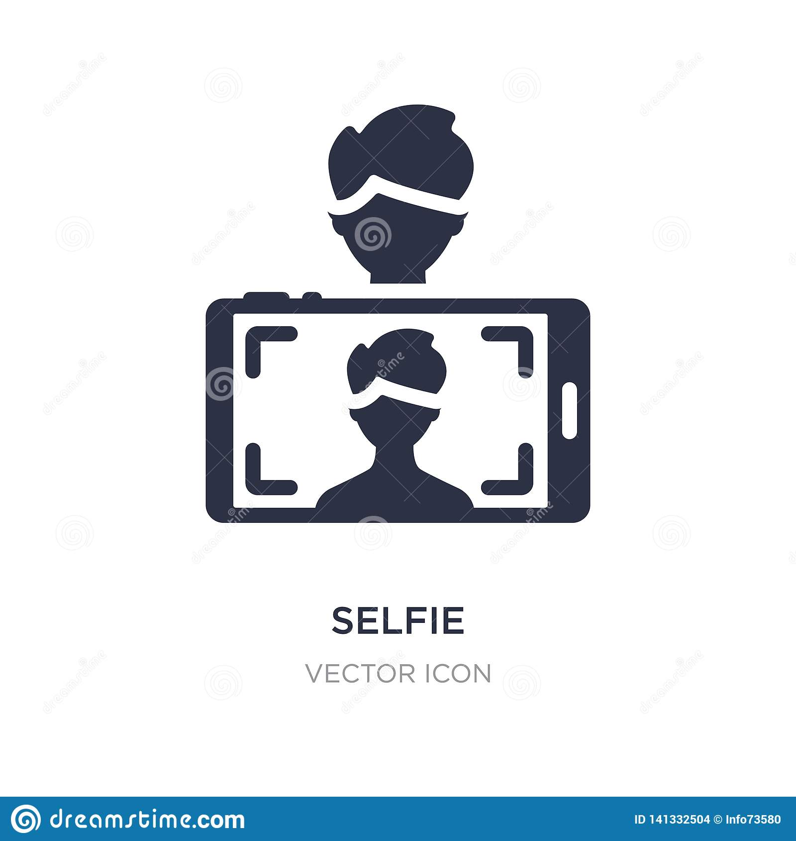 selfie icon on white background. Simple element illustration from Blogger and influencer concept