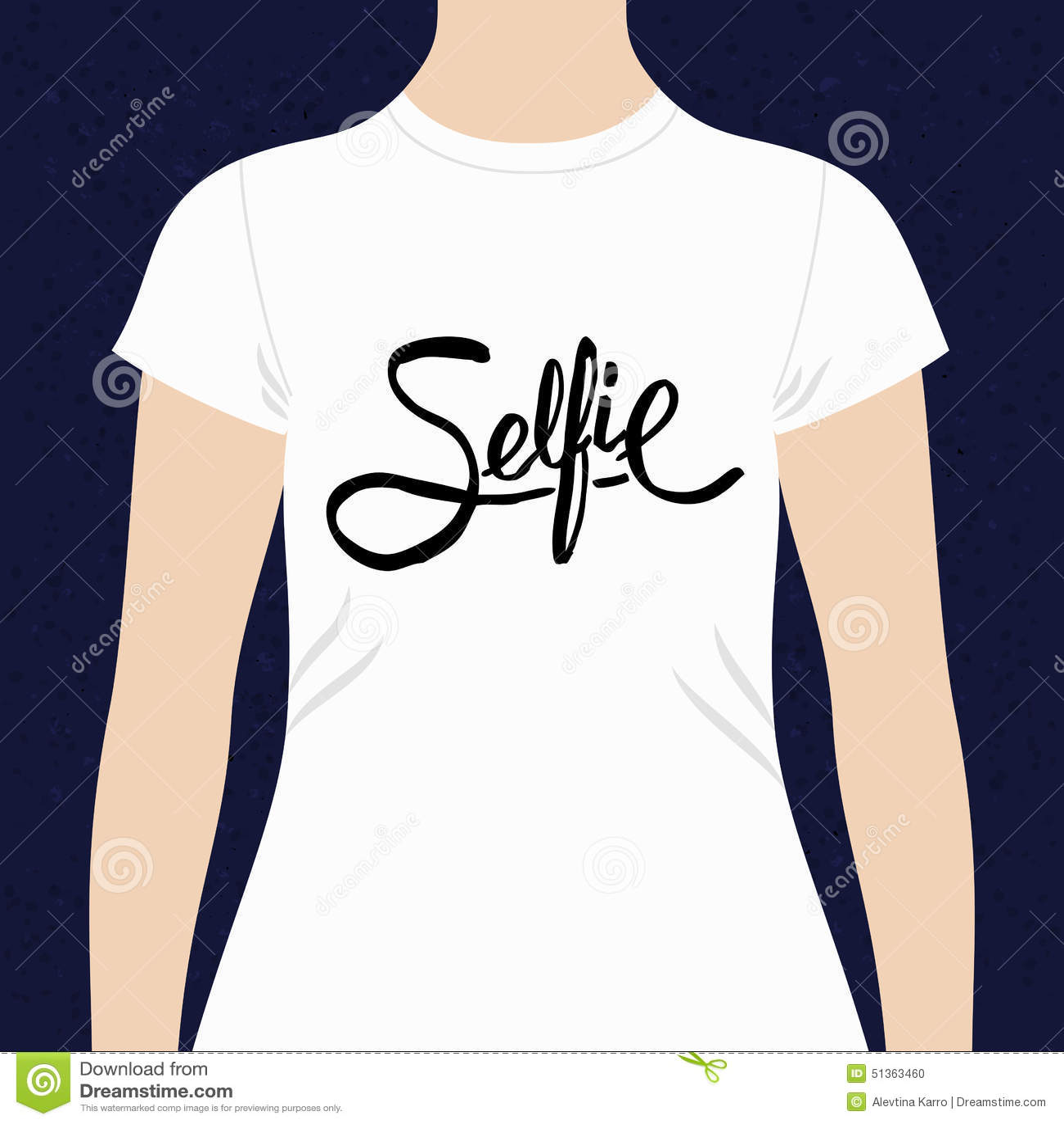5b9897884e4 Selfie Simple Text Design For A T-shirt Stock Vector - Illustration ...