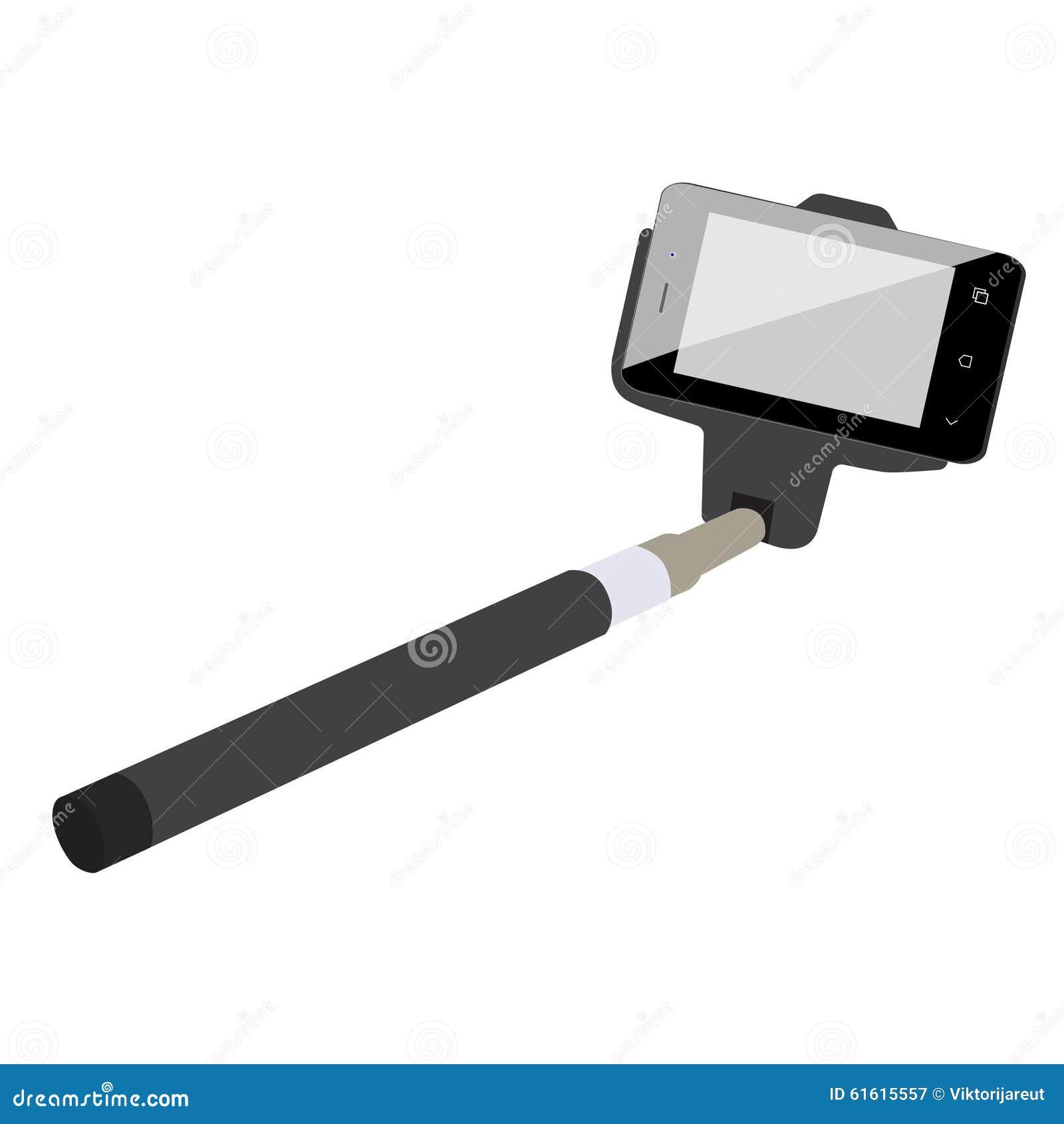 selfie stick stock illustration image 61615557. Black Bedroom Furniture Sets. Home Design Ideas