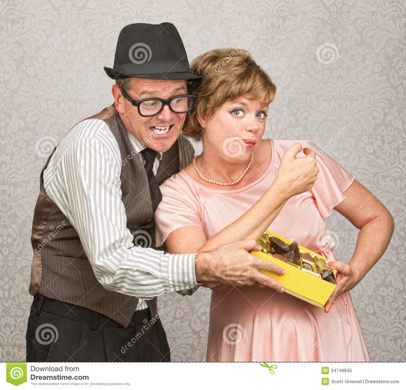 Selfish Woman With Chocolates Royalty Free Stock Photo - Image ...