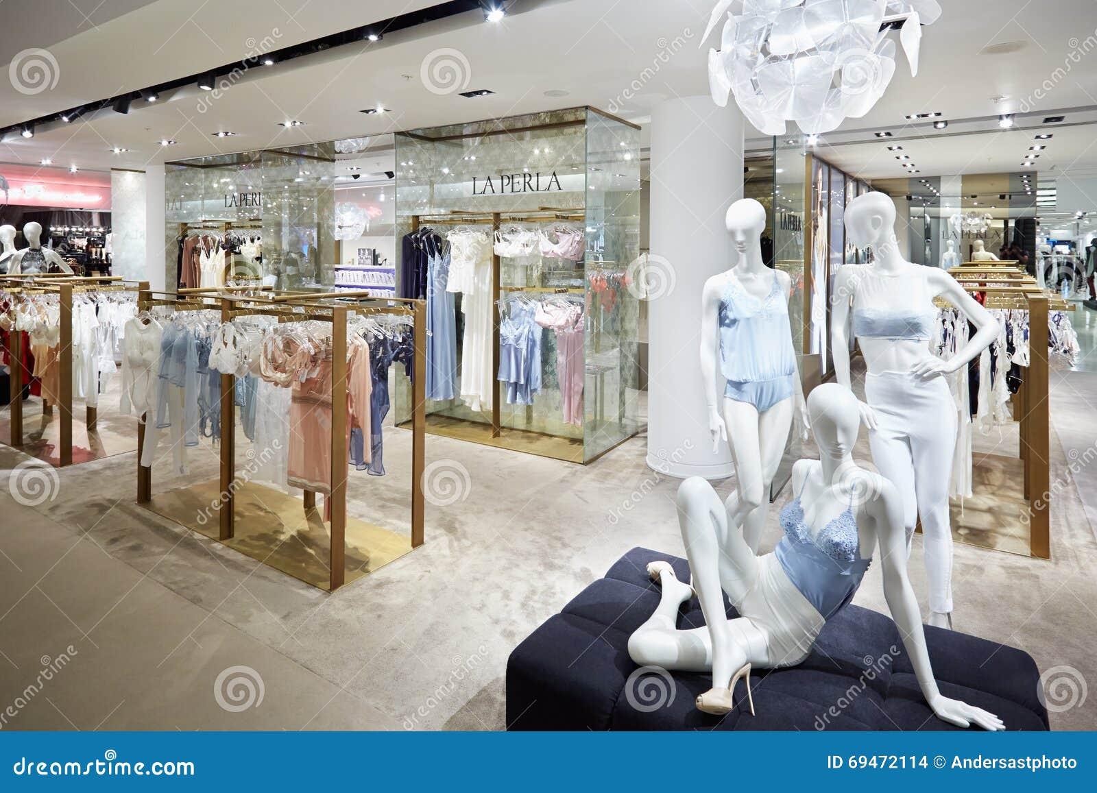 Selfridges Department Store Interior, La Perla In London Editorial ...
