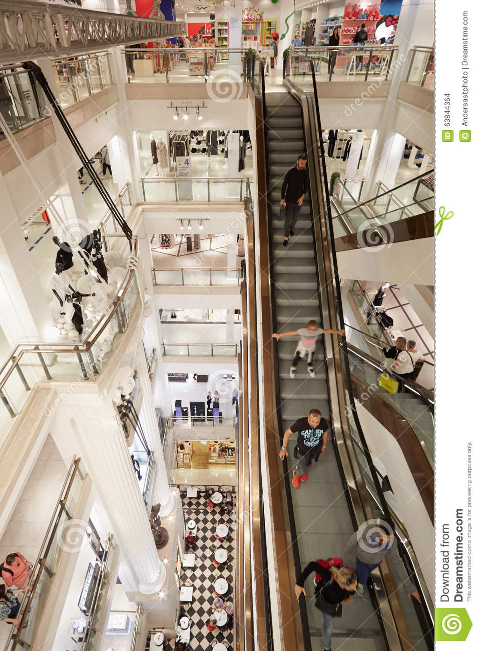 05ff1e091492 Selfridges Department Store Interior In London Editorial Stock Image ...