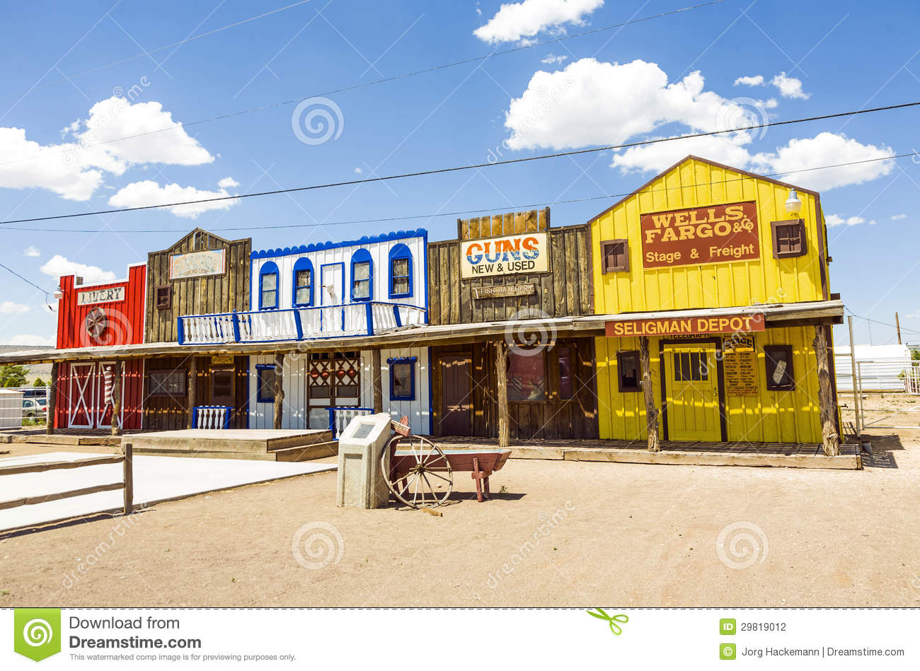 the historic seligman depot on route 66 editorial photography