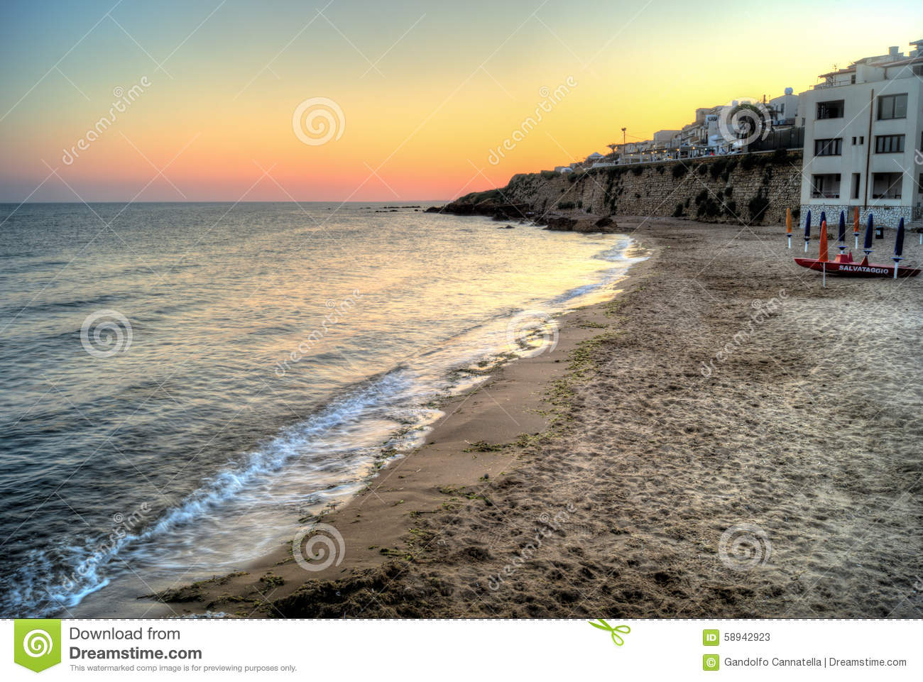 Selinunte beach at sunset in Sicily