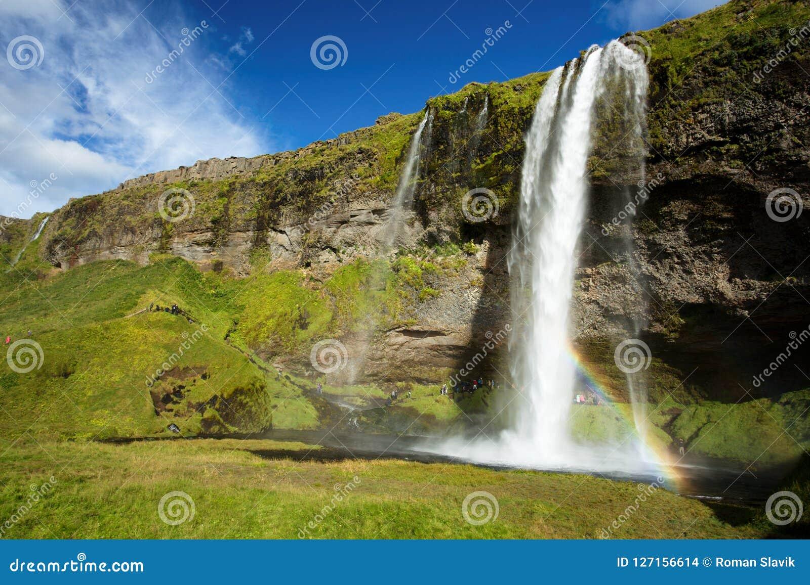 Seljalandfoss vattenfall i Island