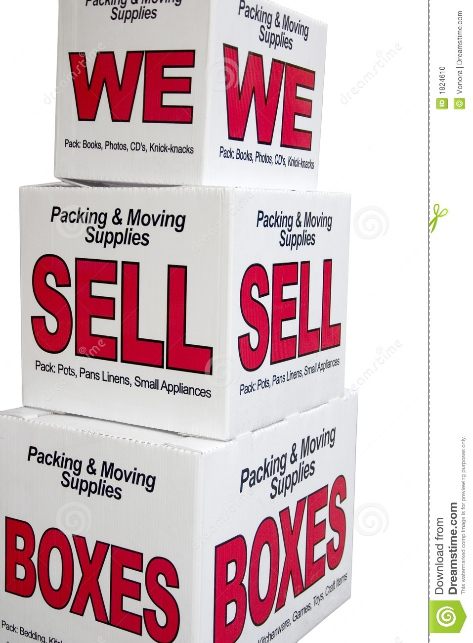 We Sell Boxes Stock Photo Image Of Medium Sale Sell