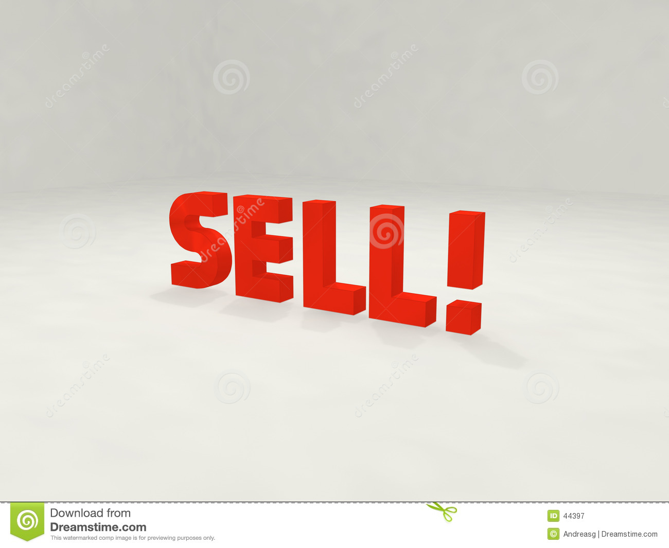 Sell and exclamation mark